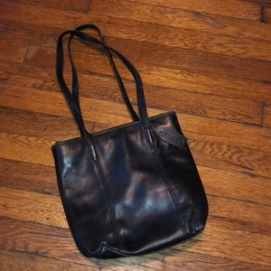 Coach vintage lunch tote bucket bag black 9077